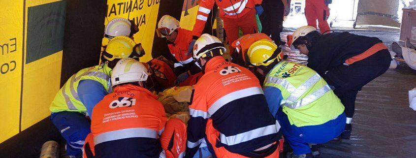 Simulacro de accidente áreo en Sevilla